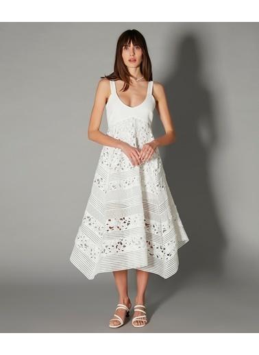 Ipekyol Kadın  Elbise IS1200002477 Beyaz